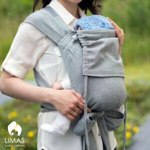 LIMAS Babytrage – schwarz/grau