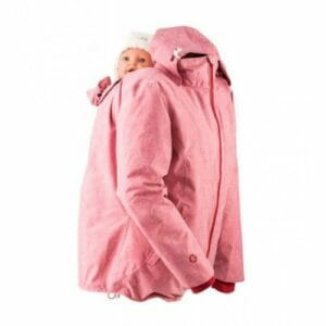 Mamalila Winterjacke für zwei rot mit Kopfstütze