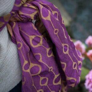 Ringsling aus Yaro Loops Purple Yellow Tencel/Leinen