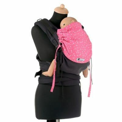 Huckepack Half Buckle schwarz/pinke Sterne Babysize