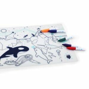 Super Petit Silikon Zeichnungsmatte Unter dem Meer