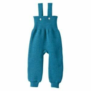 Disana Strick-Trägerhose blau