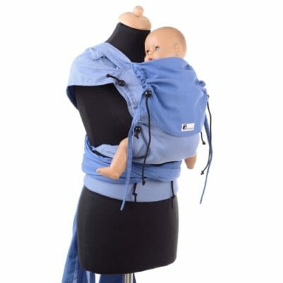 Huckepack Wrap Tai blau Mediumsize