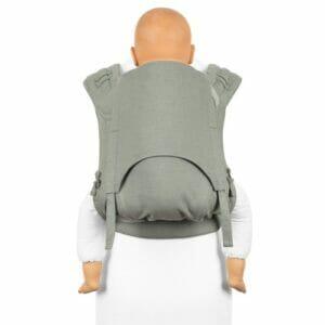 Fidella FlyClick Plus Babytrage chevron graugrün