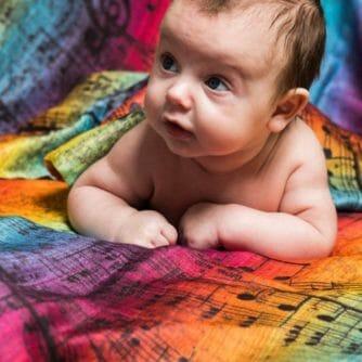 Lenny Lamb Swaddle Symphony Dark Rainbow 4