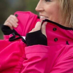 Made by Zuz Schwangerschaftseinsatz für Softshell Parka pink