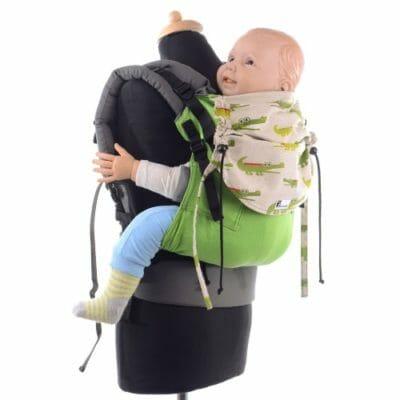 Huckepack Full Buckle grün Krokodile Preschooler