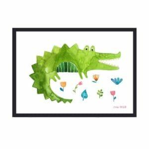 Frau Ottilie – Print DIN A4 Krokodil