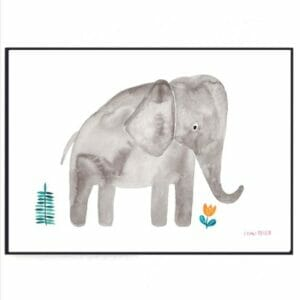Frau Ottilie – Print DIN A4 Elefant
