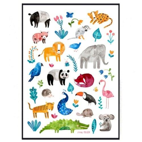 Frau Ottilie - Poster Tierposter