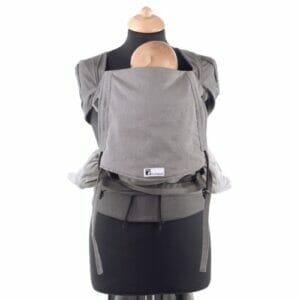 Huckepack Wrap Tai hellgrau/dunkelgrau Mediumsize