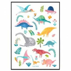 Frau Ottilie – Poster Dinosaurier